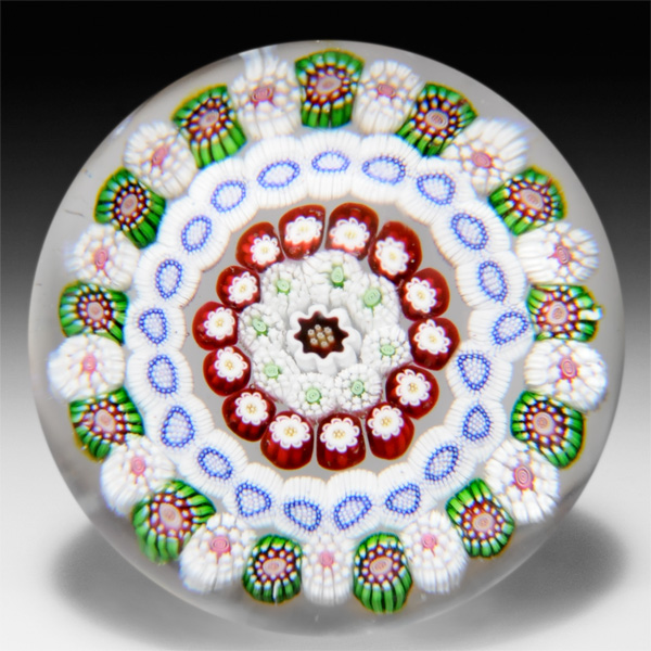 Antique Baccarat concentric millefiori paperweight. by  Baccarat Antique