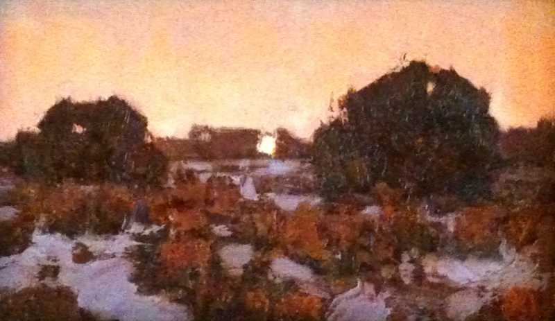 Winter Desert Moonrise