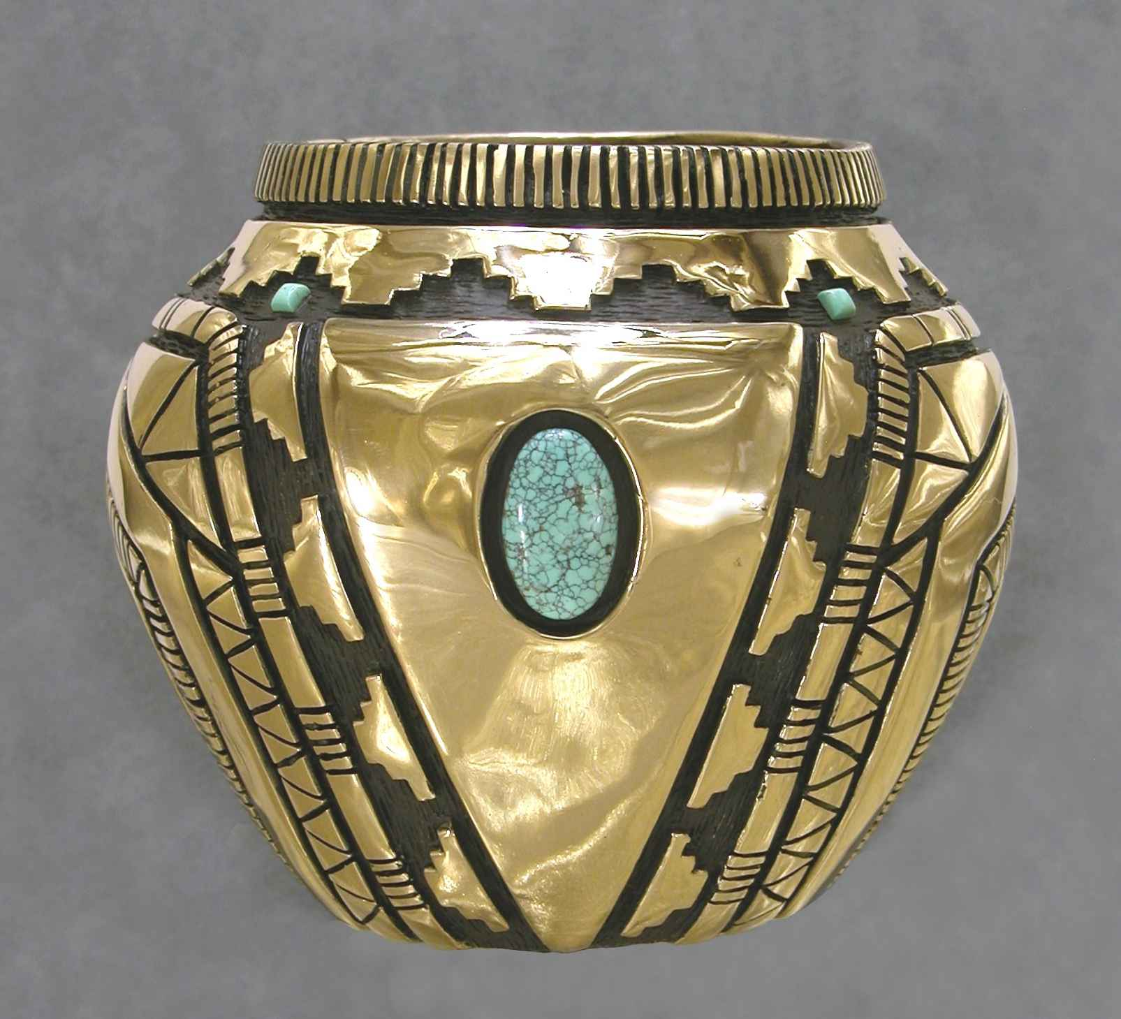 Bronze Vessel With Tu...