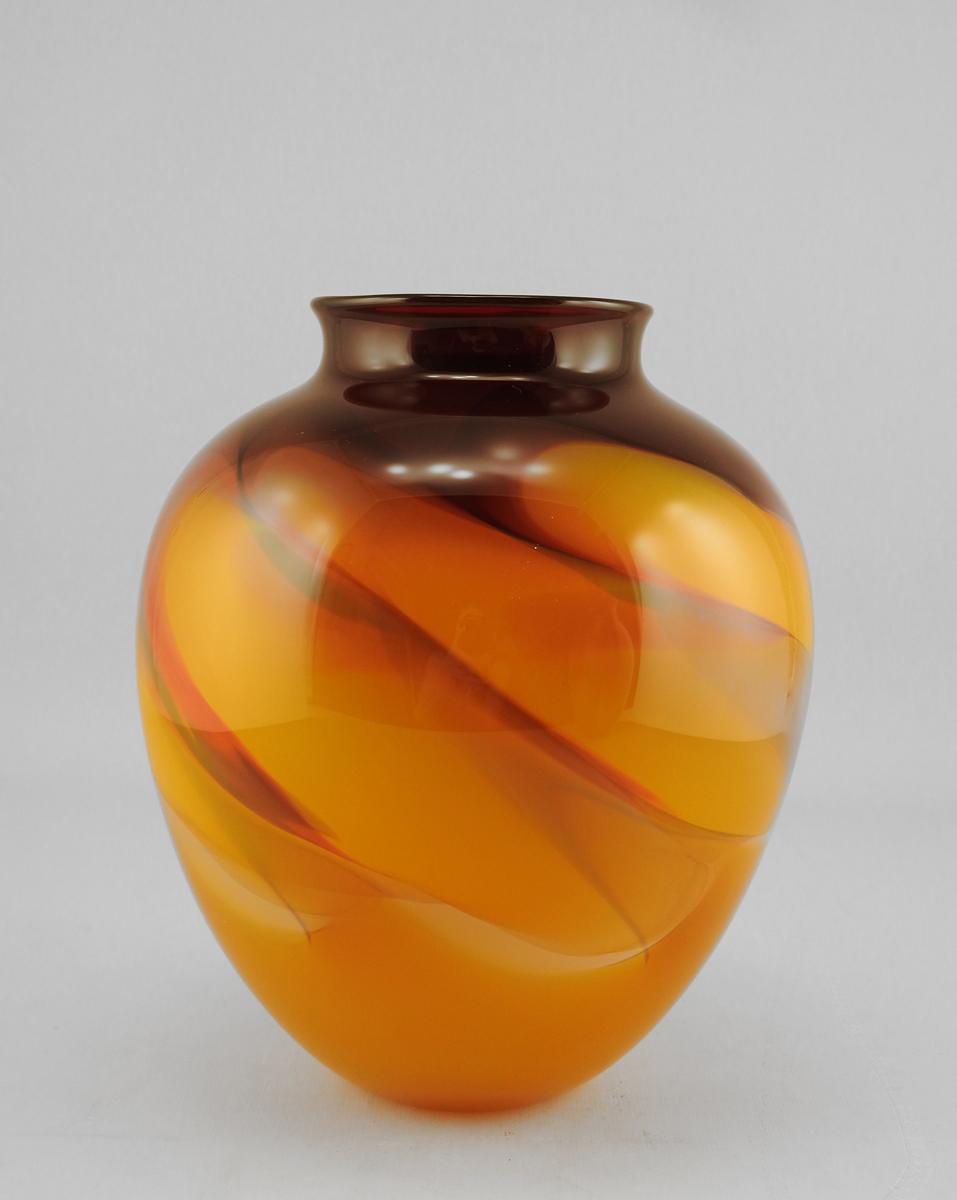 Torch Vase w/Orange
