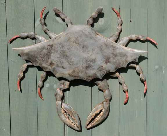 Large Antiqued Crab