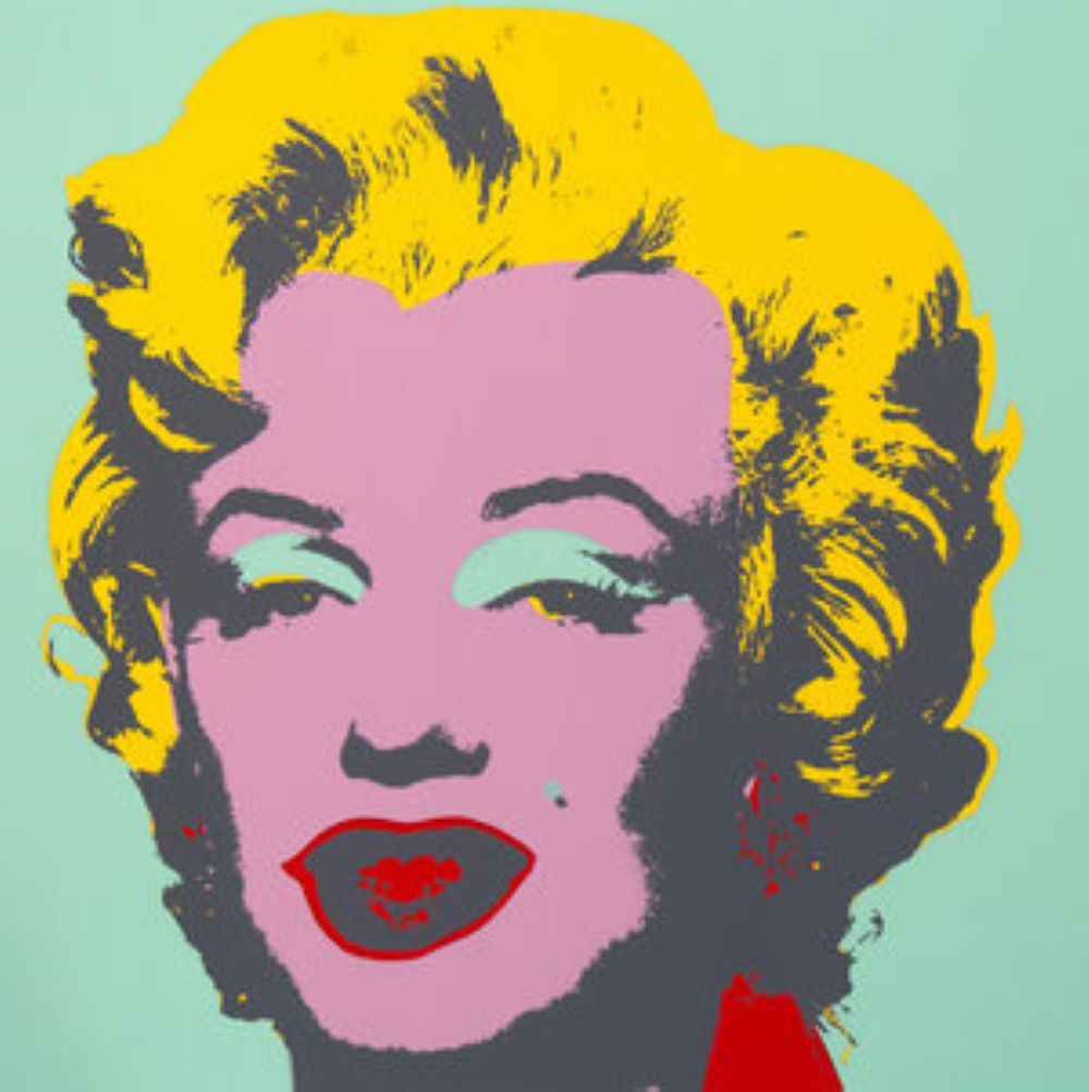 Marilyn; Green & Pink...
