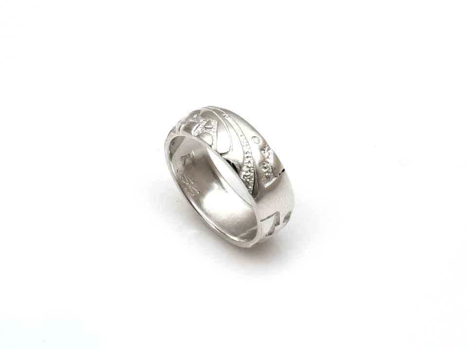 Carved Silver Band