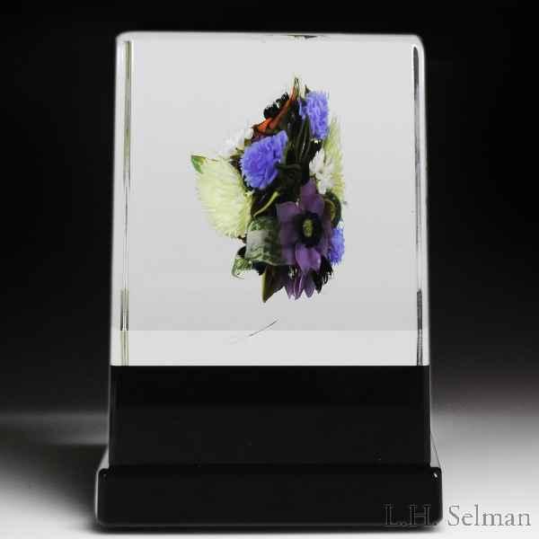 David Graeber 2019 lilac, blueberry, lemon, strawberry and tea rose bouquet paperweight. by David Graeber
