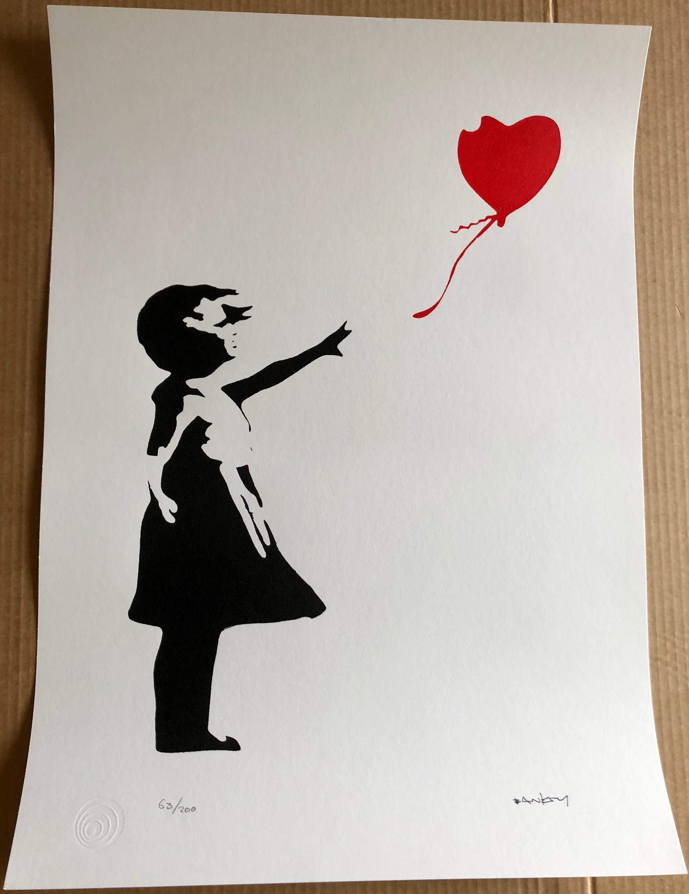 Girl with Red Heart B...