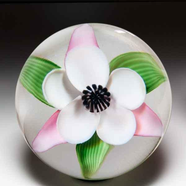 Orient & Flume mauve irises compound vase, by Bruce Sillars. by  Orient & Flume