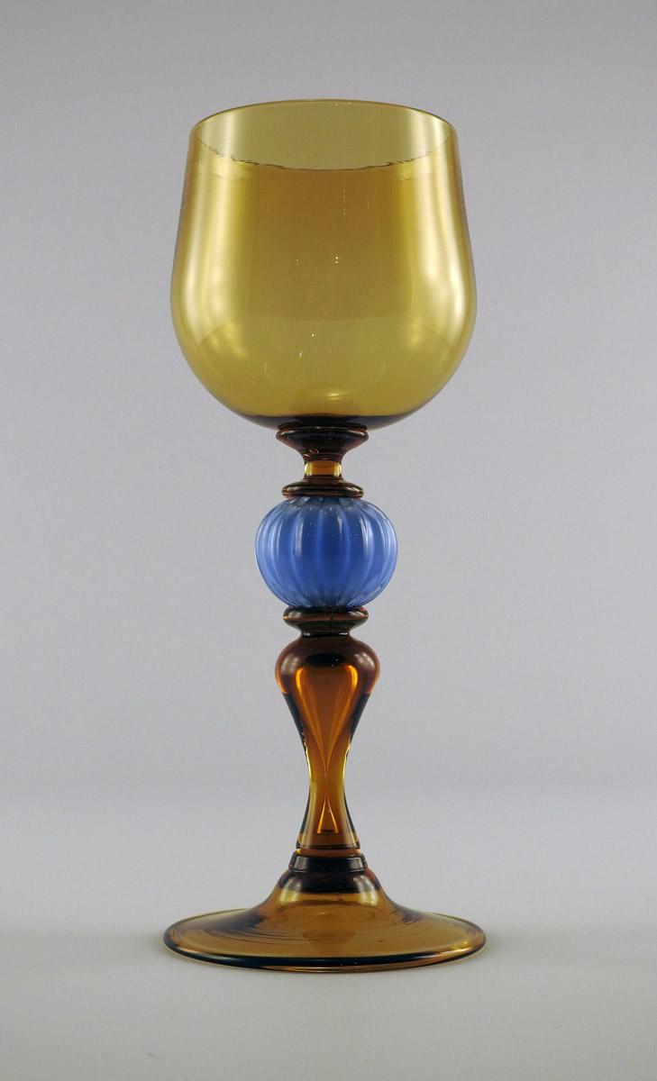 Goblet/Amber & Blue