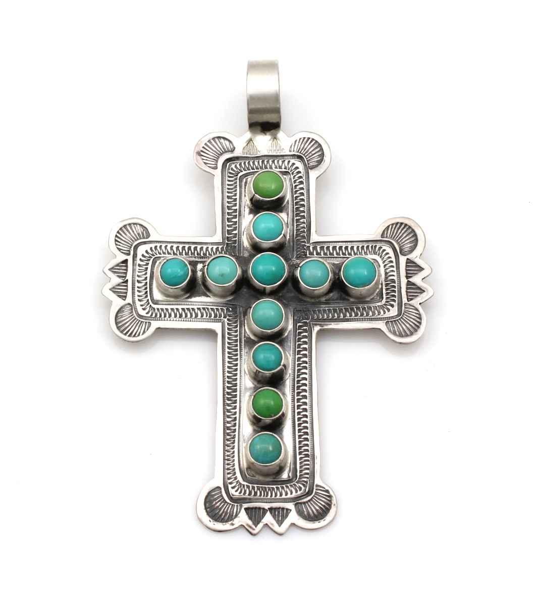 Turquoise Cross Penda...