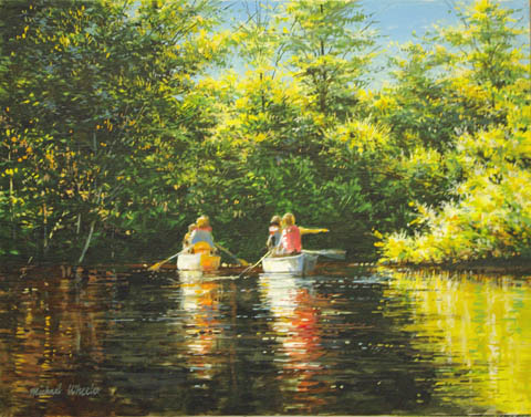 Two Canoes Mangrove S... by  Michael Wheeler - Masterpiece Online