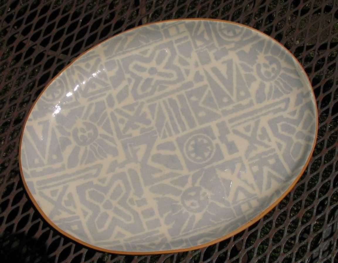 Small Oval Platter by  Terrafirma Ceramics - Masterpiece Online