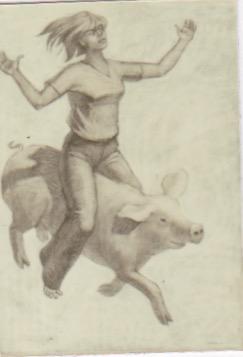 Pig Flight by  Melissa Hefferlin - Masterpiece Online