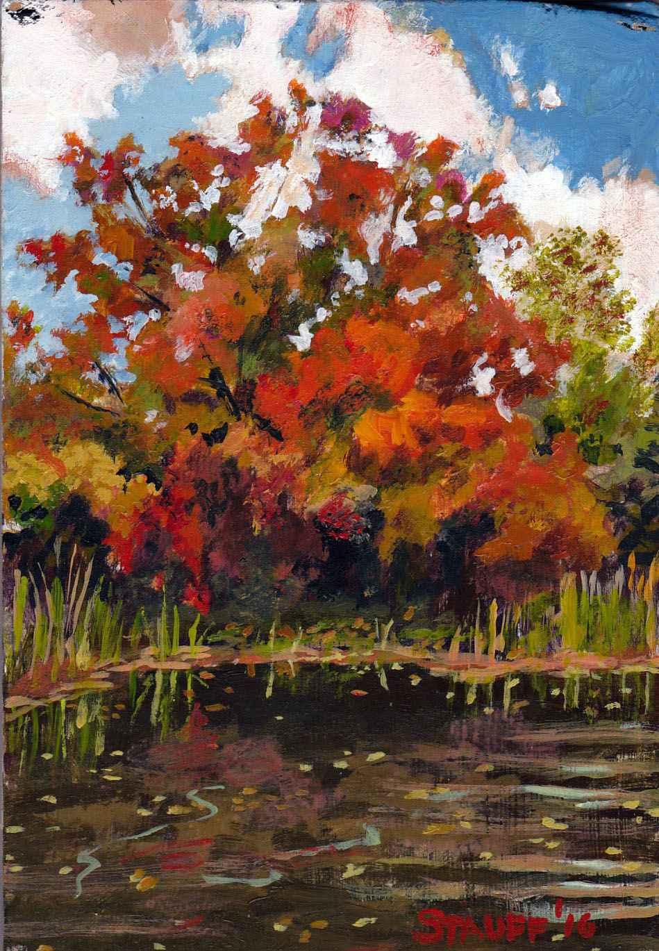 Autumn Red Tree by Mr. Daniel Stauff - Masterpiece Online