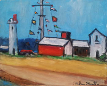 Port with Flags by  Andres  Morillo - Masterpiece Online