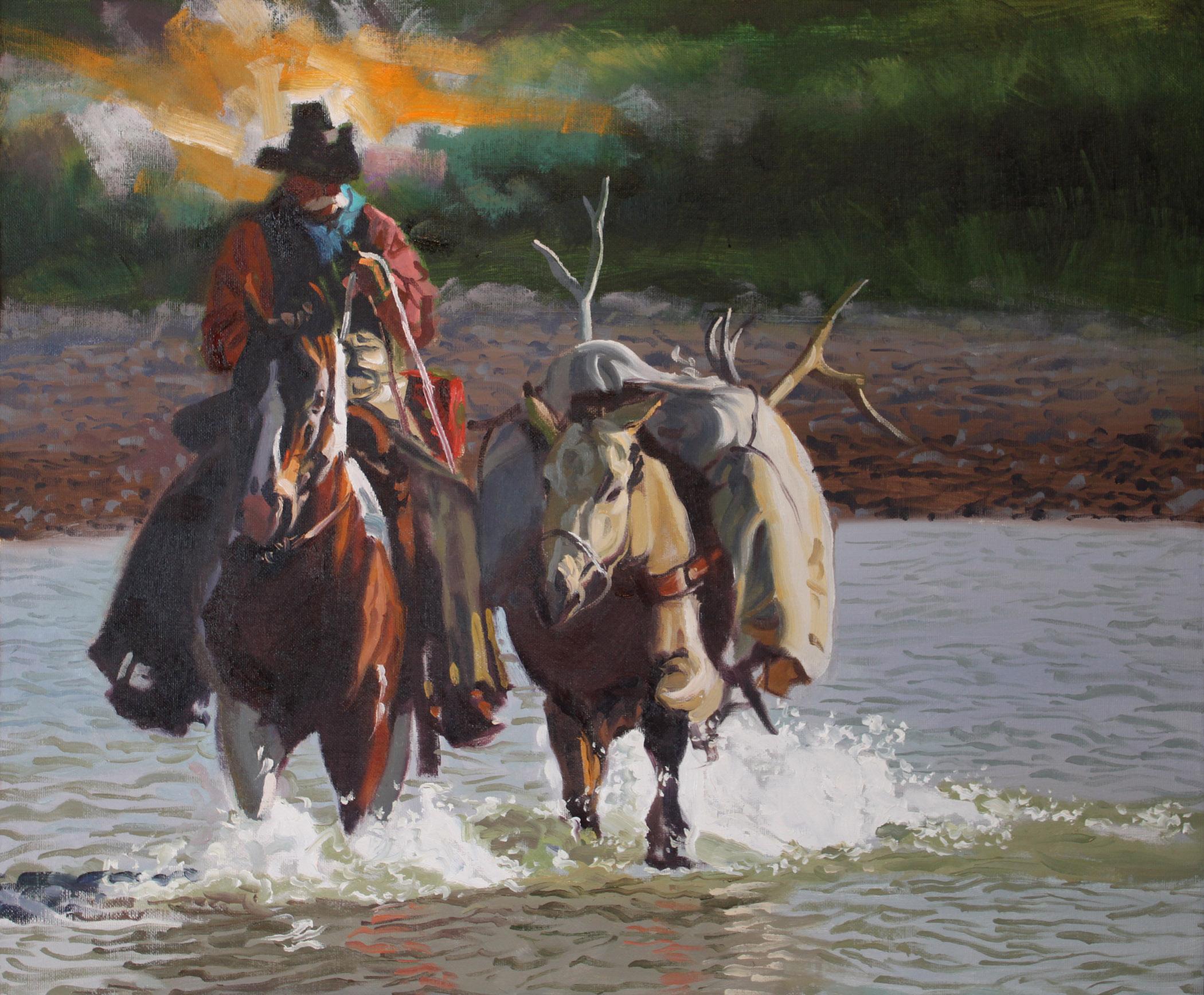 Buckskin Pack Horse by  Glen Edwards - Masterpiece Online