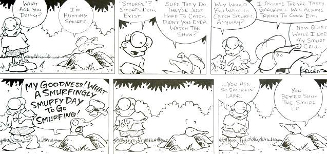 Hunting Smurfs by  Dave Kellett - Masterpiece Online
