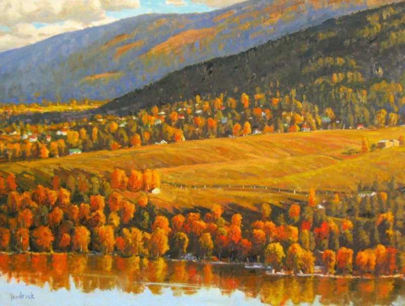 Last Light, Kalamalka... by  Ron Hedrick - Masterpiece Online