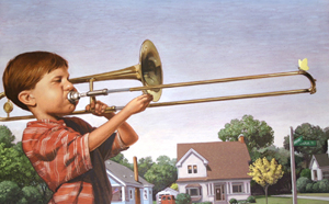 Farkle With Trombone by  C.F. Payne - Masterpiece Online