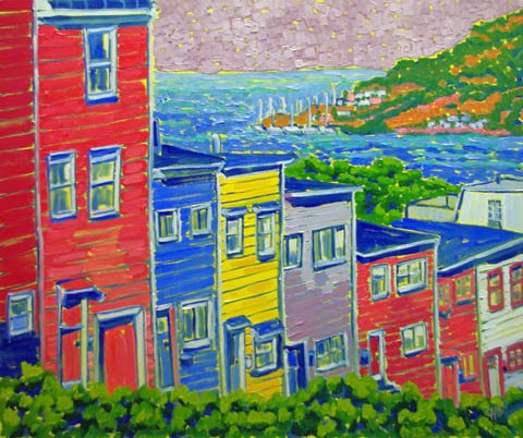 Coastal Houses by  Char  Michelson  - Masterpiece Online
