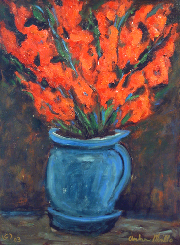 Red Gladiola with Vas... by  Andres  Morillo - Masterpiece Online