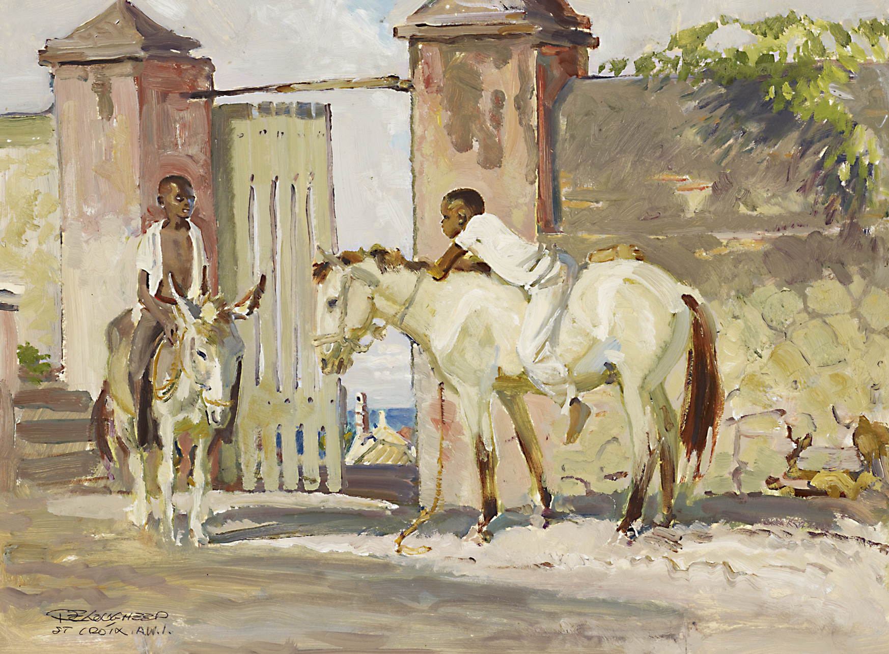 Donkey Sugarcane an... by  Robert Lougheed - Masterpiece Online