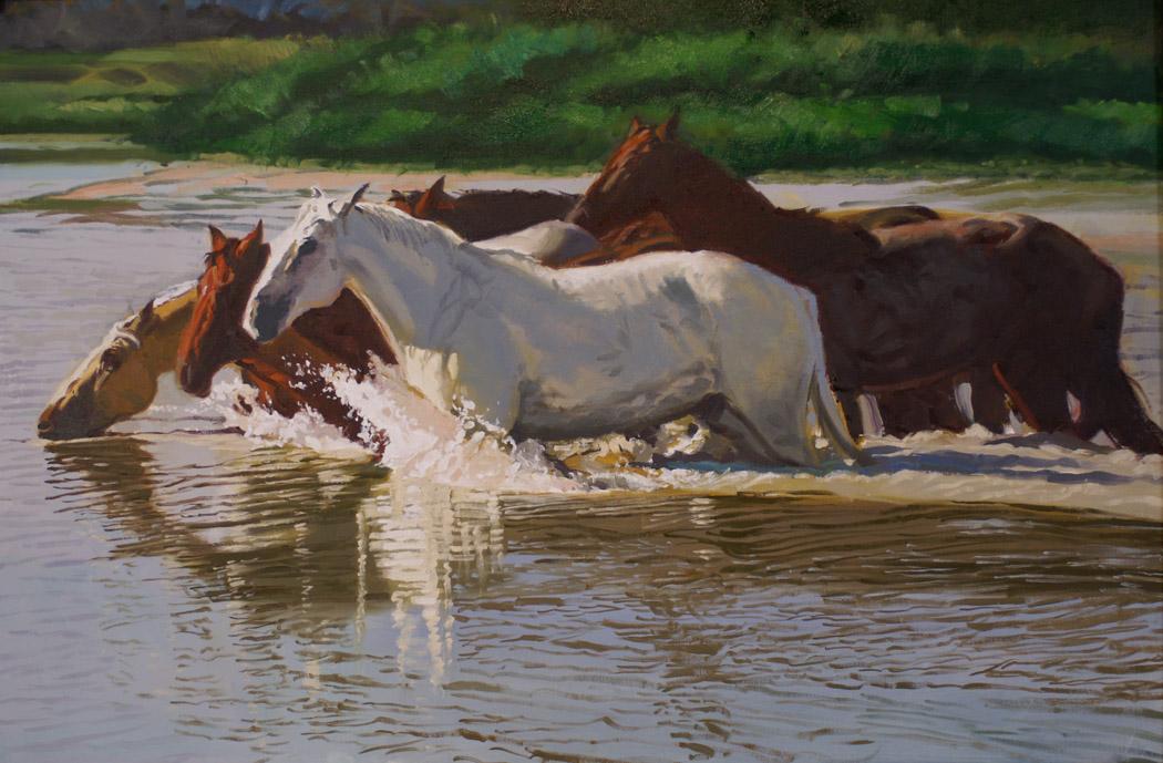 SOLD- Wild Horses by  Glen Edwards - Masterpiece Online