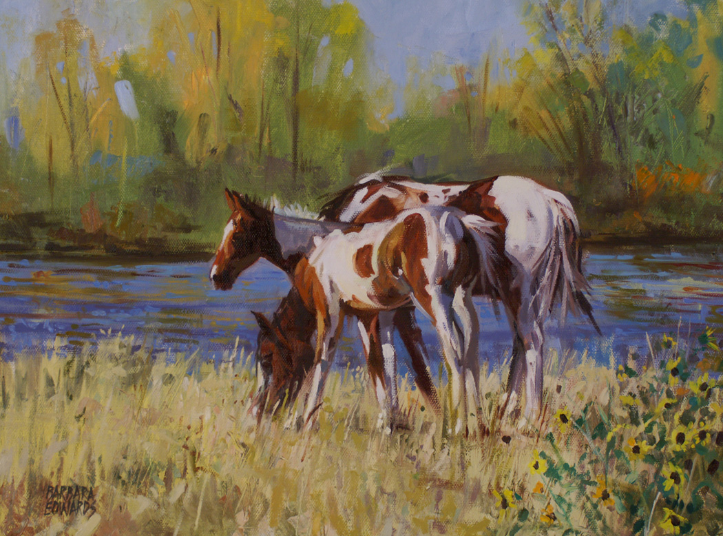 SOLD- River's Edge  by  Barbara Summers Edwards