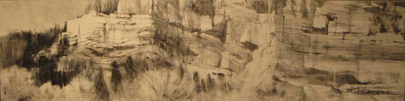 Cliffs Near Durango II by  Lane Hall - Masterpiece Online