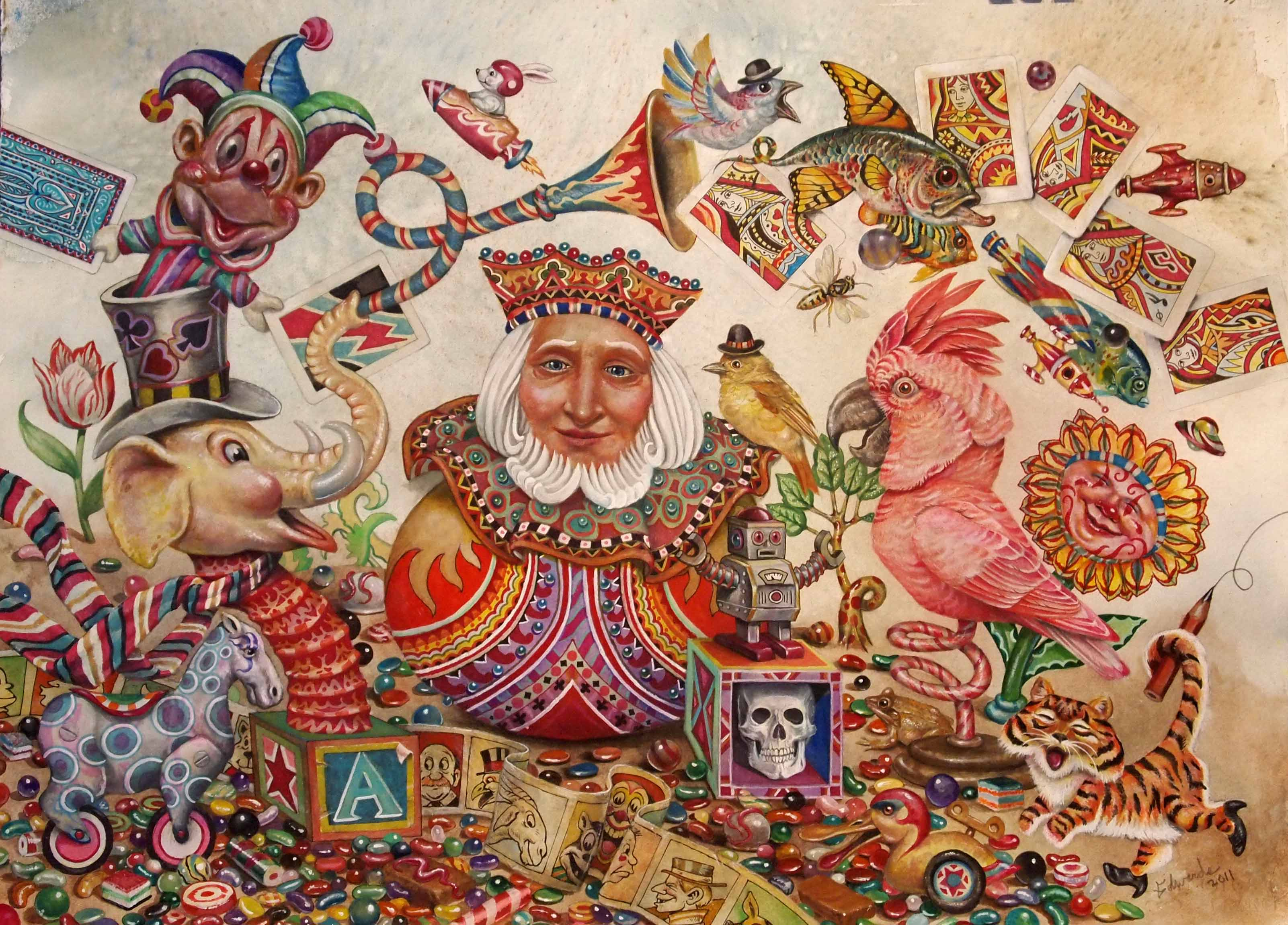 The King of Candyland  by  Wallace Edwards