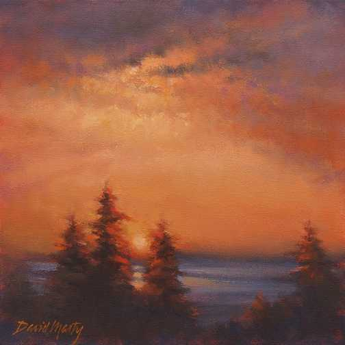 Northwest Evening  by  David Marty