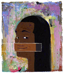 Woman With Black Hair... by  Joe Cepeda - Masterpiece Online