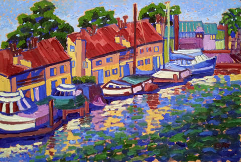 On the River by  Char  Michelson  - Masterpiece Online