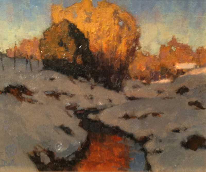 Winter Evening Acequia by  David Ballew - Masterpiece Online