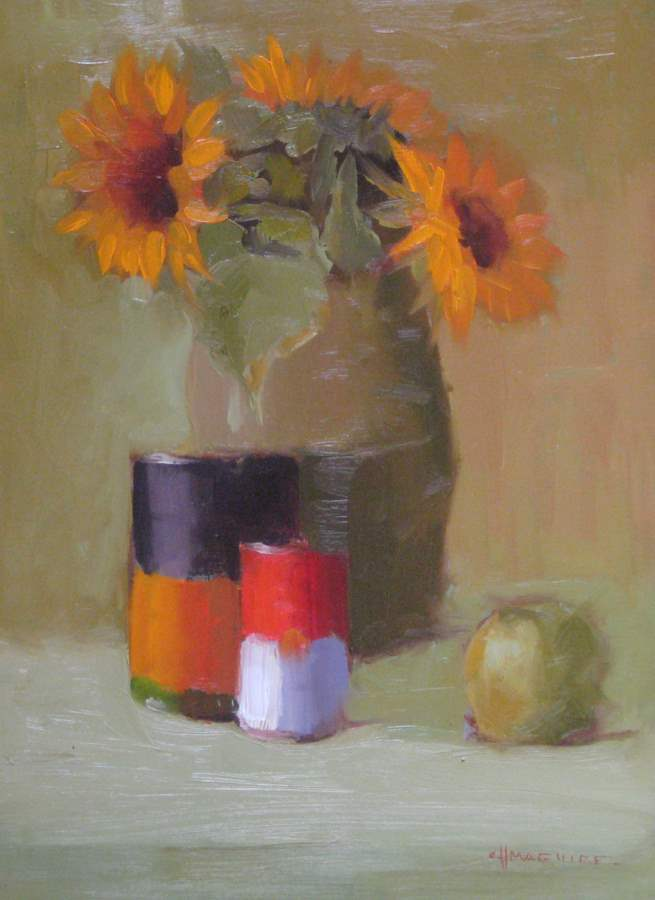 Sunflowers & Cans by  Carol Maguire - Masterpiece Online
