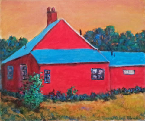Red Barn by  Andres  Morillo - Masterpiece Online