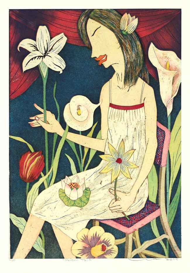 Garden Talk by  Yuji Hiratsuka - Masterpiece Online