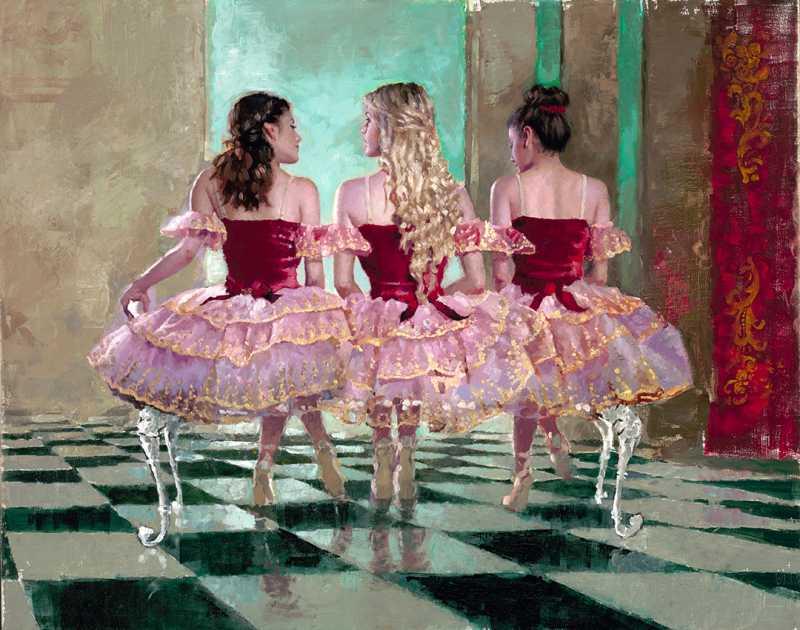 Ballerinas Red by  Michael Fitzpatrick - Masterpiece Online