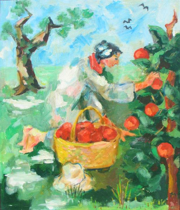 Apple Picking by  Tom Maley - Masterpiece Online
