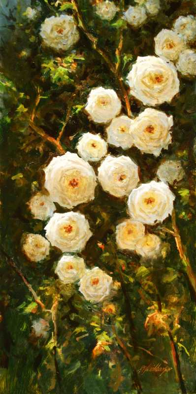 Barb's Roses by  Dick Heichberger - Masterpiece Online