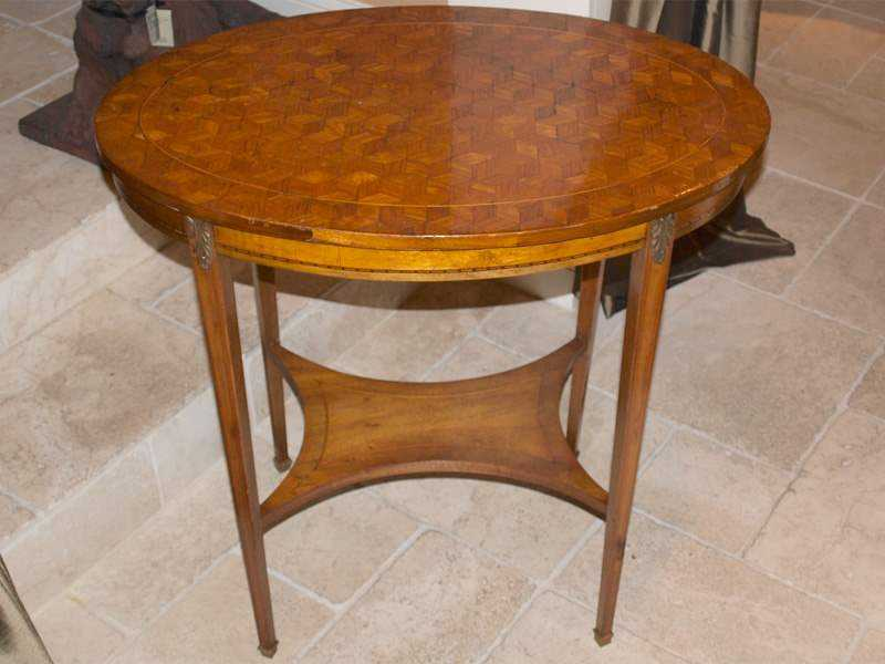 Oval Parquetry Table by  French  - Masterpiece Online