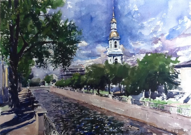 Belltower of Nikolski... by  Daud Akhriev - Masterpiece Online