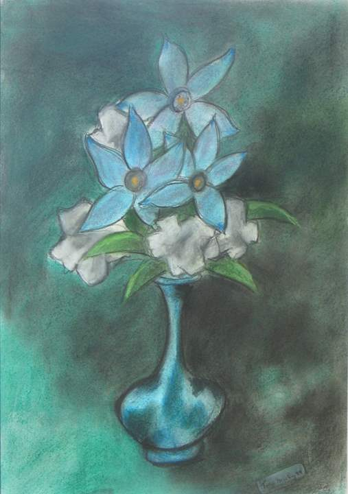 Still Life in Blue by  Tom Maley - Masterpiece Online