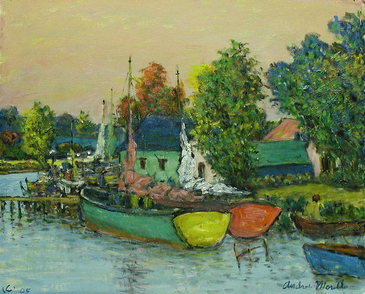 Harbor at Sunset by  Andres  Morillo - Masterpiece Online