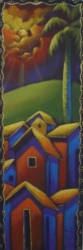 Golden Landscape by  Reny Emmanuel - Masterpiece Online