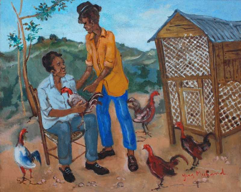 Two gentelmen and som... by  Yves MICHAUD - Masterpiece Online
