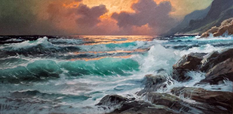 Pacific Sunset (C) by  A. Dzigurski Sr.  - Masterpiece Online