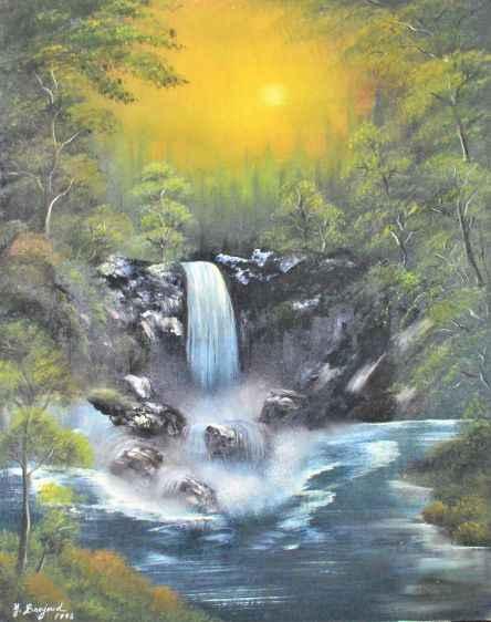 Waterfall  by  Y Barjoud