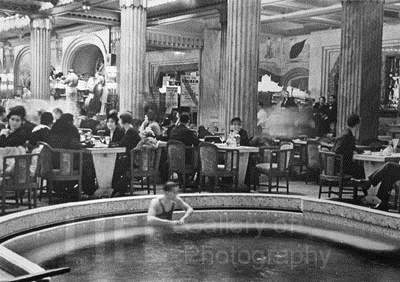 Swimming Pool in Cafe... by  Alfred Eisenstaedt - Masterpiece Online