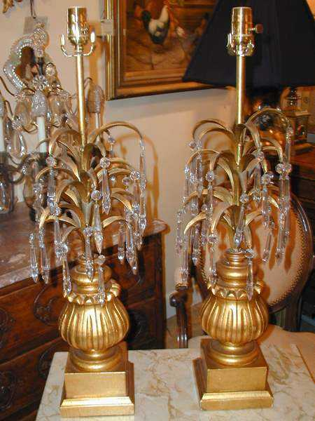 Pair of Palm Lamps by  Italian  - Masterpiece Online