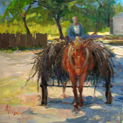Horsedrawn Cart by  Lindy  Duncan - Masterpiece Online