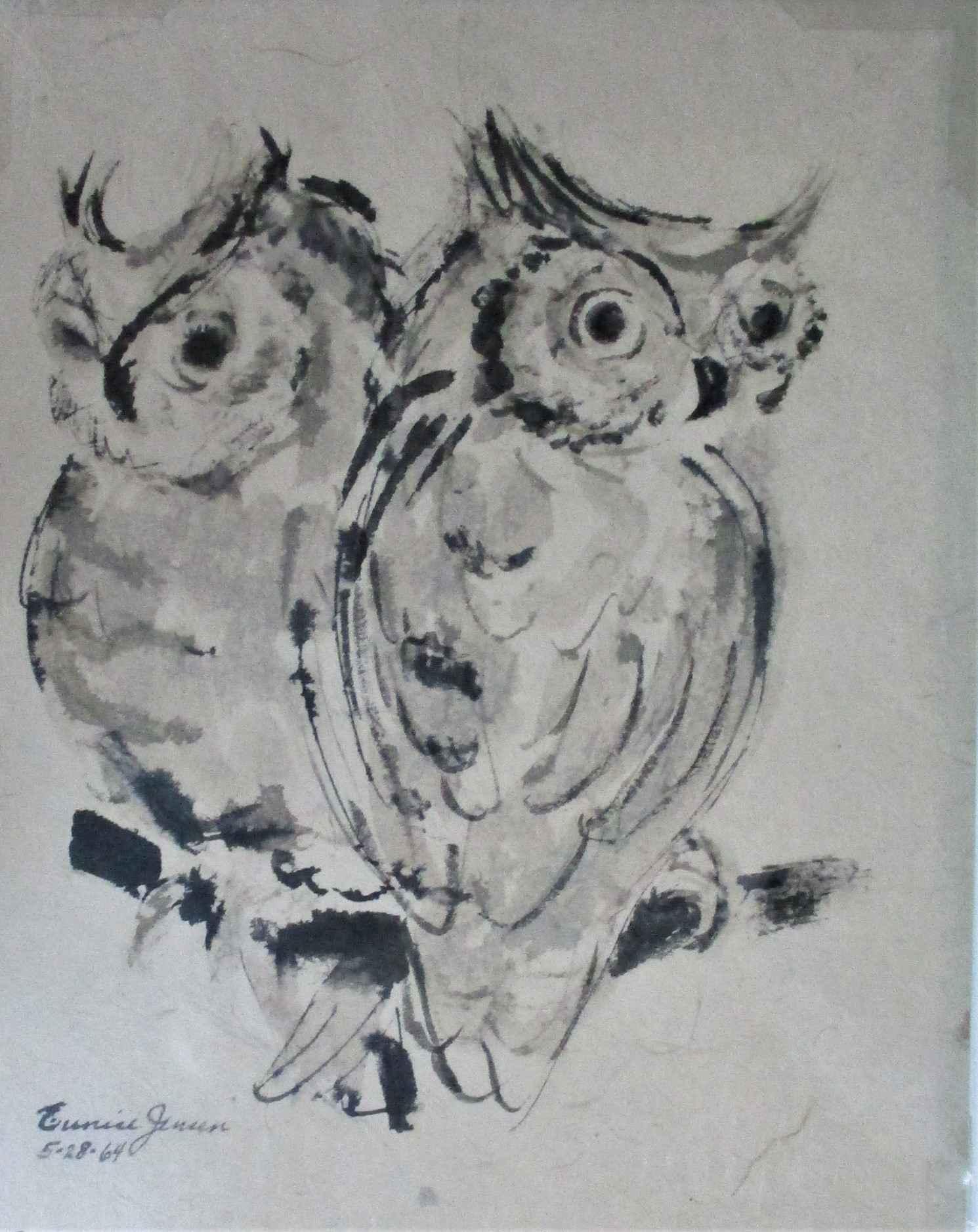 Untitled ( 2 Owls) by  Eunice Jensen Parsons - Masterpiece Online